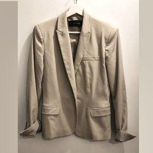 ZARA BASIC lined spring blazer slim fit size small
